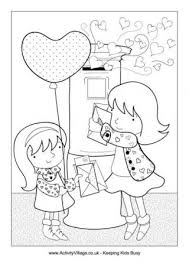 valentine u0027s colouring pages