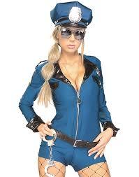 Halloween Costumes Police Demeanor Police Womens Romper Halloween Costume