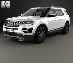 Ford Explorer Xlt 2015 - ford explorer u502 platinum with hq interior 2015 3d model hum3d