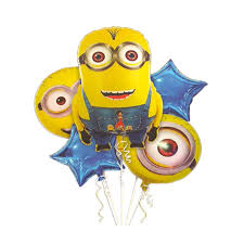 foil balloons minions theme foil balloons set