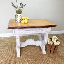 enamel top table distressed furniture antique farm table
