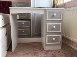Glass Top Vanity Table White Glass Top Dressing Table Vanity Collections