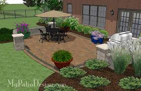 Simple Patio Design Creative And Simple Patio Design With Seat Wall 410 Sq Ft