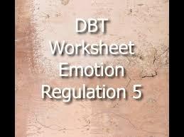 dbt worksheet emotion regulation 5 youtube