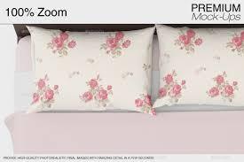 linen bedding mockup by mock ups graphicriver