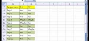 Excel Survey Data Analysis Template How To Summarize Survey Results With A Pivot Table In Excel