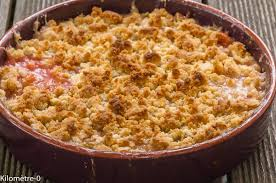cuisine rhubarbe crumble à la rhubarbe kilometre 0 fr