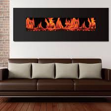 living room fireplace accent wall with electric on red excerpt