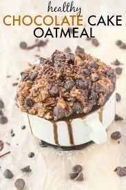 healthy chocolate cake oatmeal