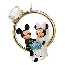disney mickey minnie wedding ring ornament home
