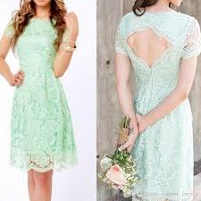 mint lace bridesmaid dresses country vintage mint green wedding dresses bateau sleeves