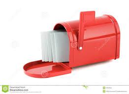 cassetta della posta americana lettere in cassetta postale rossa fotografia stock immagine di