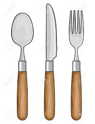 Kitchen Forks And Knives Wooden Knife Fork And Spoon Royalty Free Cliparts Vectors And