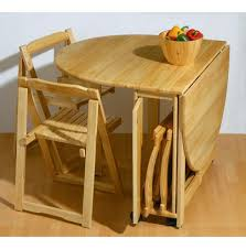 Wonderful Folding Kitchen Table And Chairs With Great Small - Rubberwood kitchen table