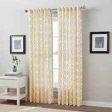 buy yellow cotton curtain panels from bed bath u0026 beyond