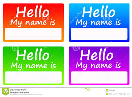 name tags stock illustration image of color card information