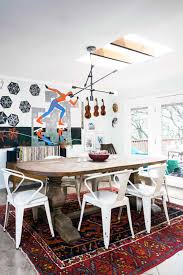 a maximalist minimalist family ranch in austin tx dining room