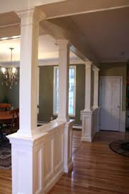 Interior Home Columns Luxury How To Build A Half Wall With Columns Designing Home