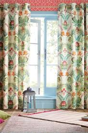 buy tropical floral mirror print eyelet curtains from the next uk