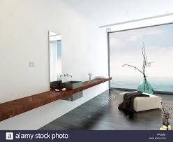 wall mounted hand basin in a minimalist luxury airy