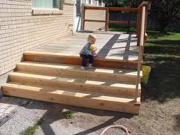 minimalist designed outdoor building deck stairs home by woods
