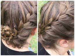 french braided updo for short hair summer hairstyles youtube