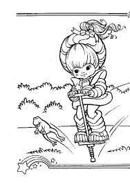 rainbow brite jumping with frog coloring page color luna