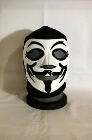 Guy Fawkes Mask Halloween by Guy Fawkes V For Vendetta Wrestling Style Mask Mardi Gras Day