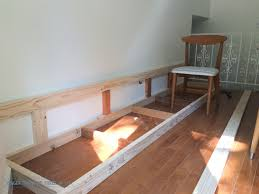 built in dining room bench built in banquette tutorial bigger than the three of us use this
