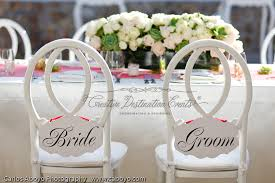 Bride And Groom Chair Signs Los Cabos Destination Wedding Cabo San Lucas Event Planner