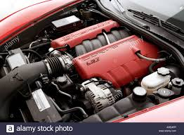 corvette z06 engine 2006 chevrolet corvette z06 in orange engine stock photo