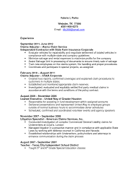 Sample Insurance Customer Service Resume Sample Claims Adjuster Resume