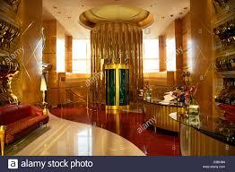 burj al arab hotel reception area dubai united arab emirates