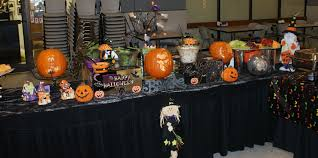 Buffet Table Decor by Halloween Buffet Table