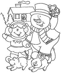 january coloring pages for kindergarten winter color sheets eidolon info
