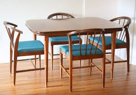 mid century modern dining room table dining chairs picked vintage