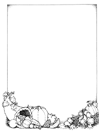 thanksgiving border clipart black and white clipartxtras
