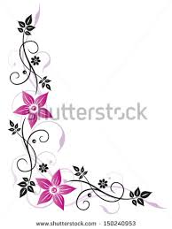 colorful border designs with flower free vector for free