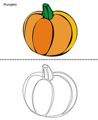 pumpkin printable coloring worksheet