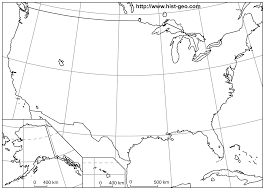 Map Scale Definition Blank Outline Maps Of The 50 States Of The Usa United States Of