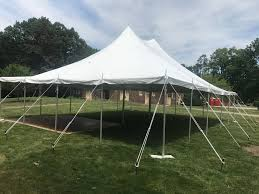 small backyard wedding tent in iowa 30 u0027 x 40 u0027 and pole tent