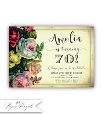70th birthday invitations 70th birthday party invitation for