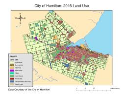 map use city of hamilton land use 2016 geospatial centre