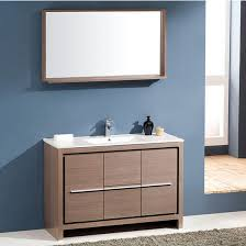 allier 48 u0027 u0027 modern bathroom vanity w mirror set by fresca