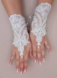 gant mariage gants noirs peints oiseau sur branche wedding gloves lace