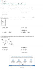 Additional Information Examples Quiz U0026 Worksheet Hypotenuse Leg Theorem Study Com