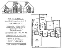 3 Bedroom 2 Bath House Plans 2201 2800sq Feet 3 Bedroom House Plans