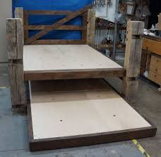 Pictures Of Trundle Beds Custom Reclaimed Post U0026 Trundle Bed By Gerspach Handcrafted
