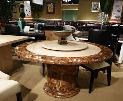Elegant Round Dining Table Ideas Table Decorating Ideas - Granite dining room tables and chairs