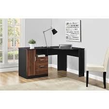 cheap black corner computer desk devaise wood lshaped corner